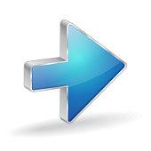 Arrow 3d Glossy Vector Icon Design