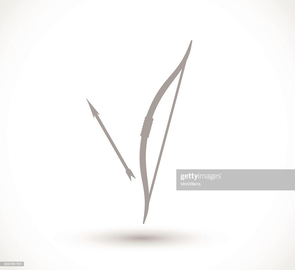 Arrow and bow icon vector