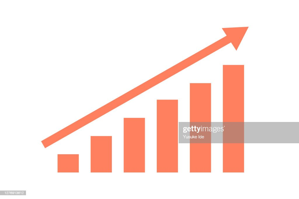 Arrow and graph : stock illustration