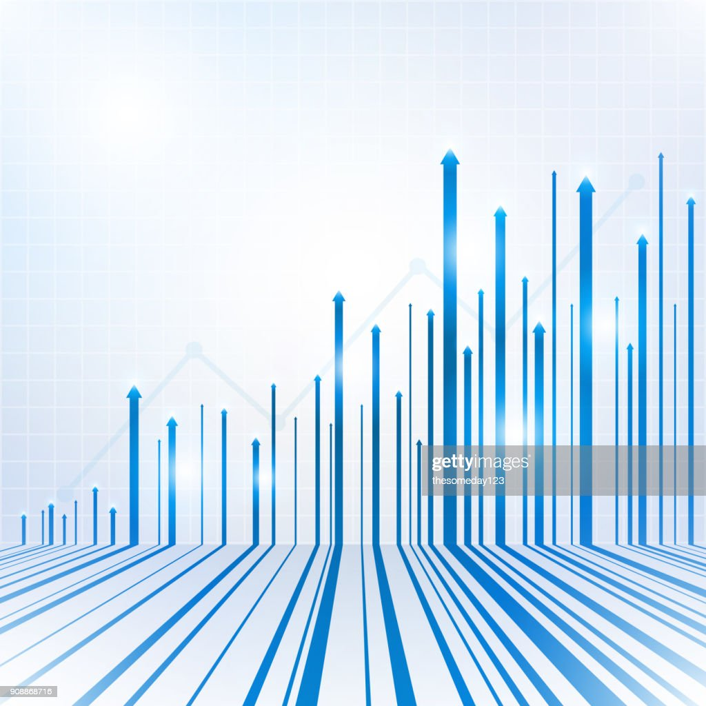 Arrow blue geometric abstract technology and science background : stock illustration