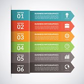Arrow business infographics template. Vector