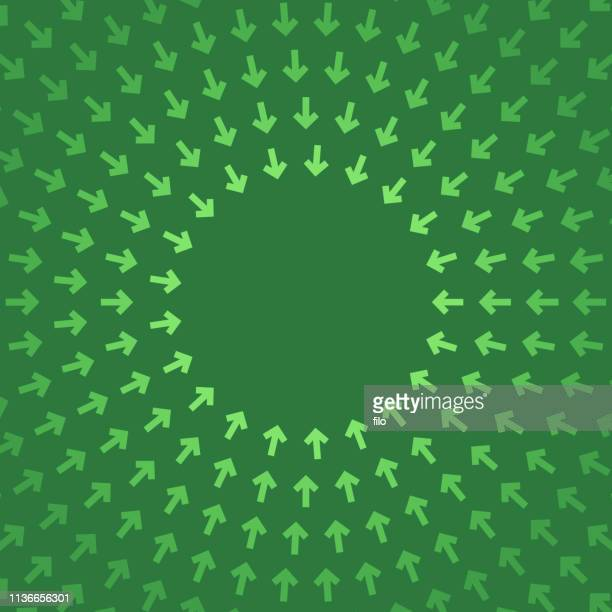 arrow circle abstract frame background - zoom in stock illustrations