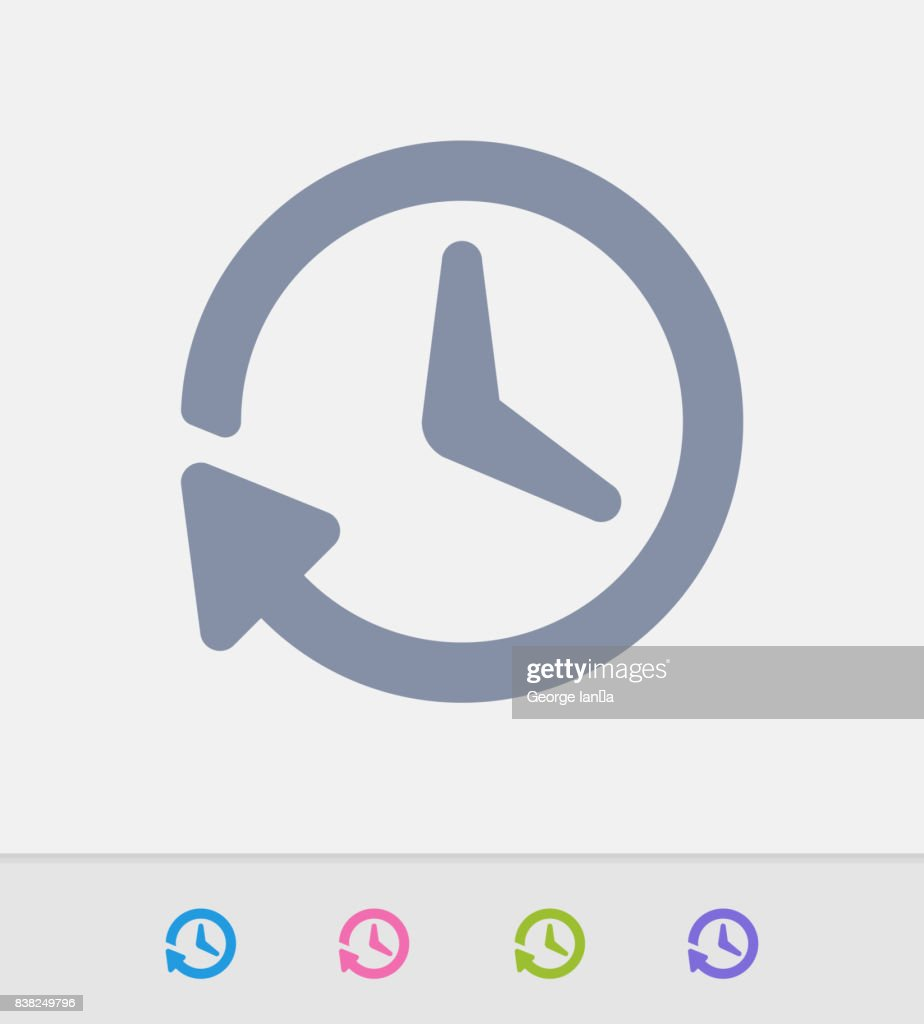 Arrow Clock - Granite Icons