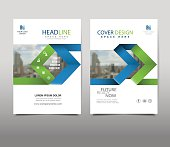 Arrow Cover design on background.booklet in A4 with Vector Illustration.