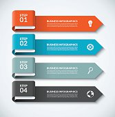 Arrow design elements for business infographics