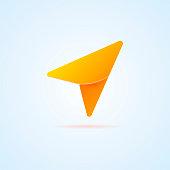 Arrow. GPS. Navigation icon. Vector illustration
