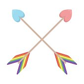 Arrow icon cartoon. Single gay icon from the big minority,