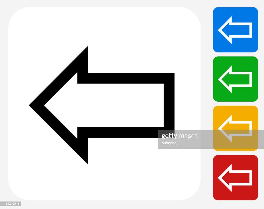Arrow Icon Flat Graphic Design