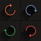 Arrow icon rotation, reset, repeat, reload sign