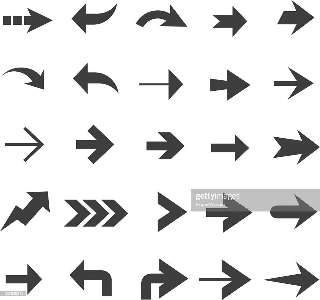 Arrow icon set : stock vector