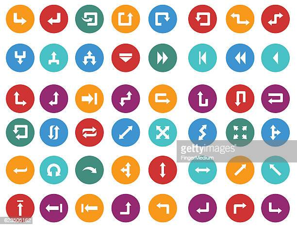 arrow icon set - former stock illustrations, clip art, cartoons, & icons