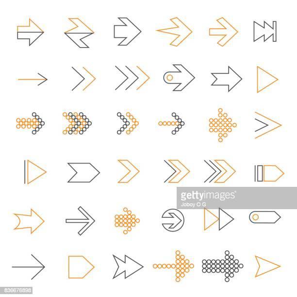 arrow icon - coordination stock illustrations, clip art, cartoons, & icons