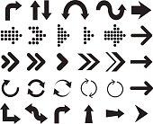 Arrow icons - Illustration. Arrow Signs. Arrow vector.
