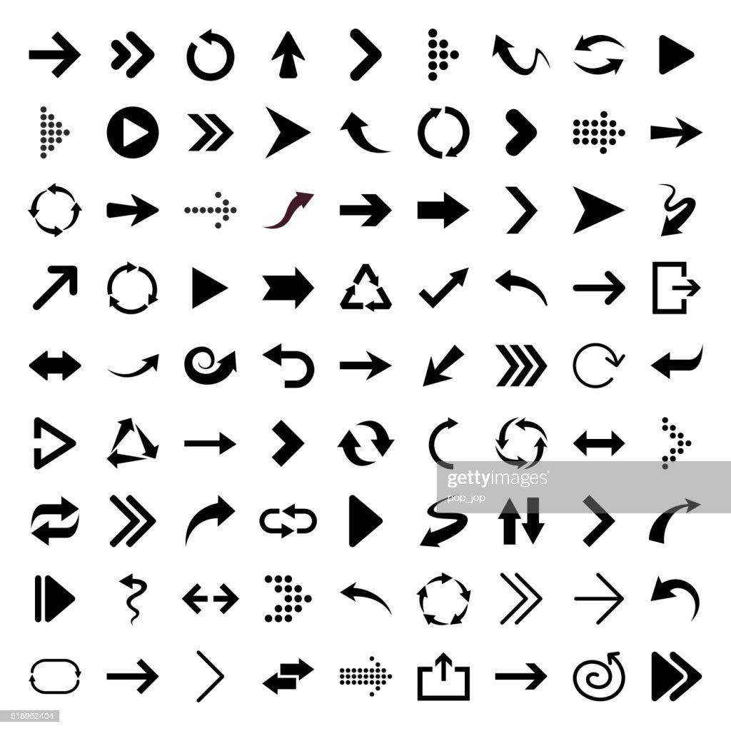 Arrow icons - Illustration : stock vector