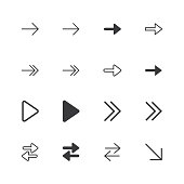 Arrow Icons. isolated perfect pixel icon set with flat style in white background for UI, app, web site, logo. Vector illustration.