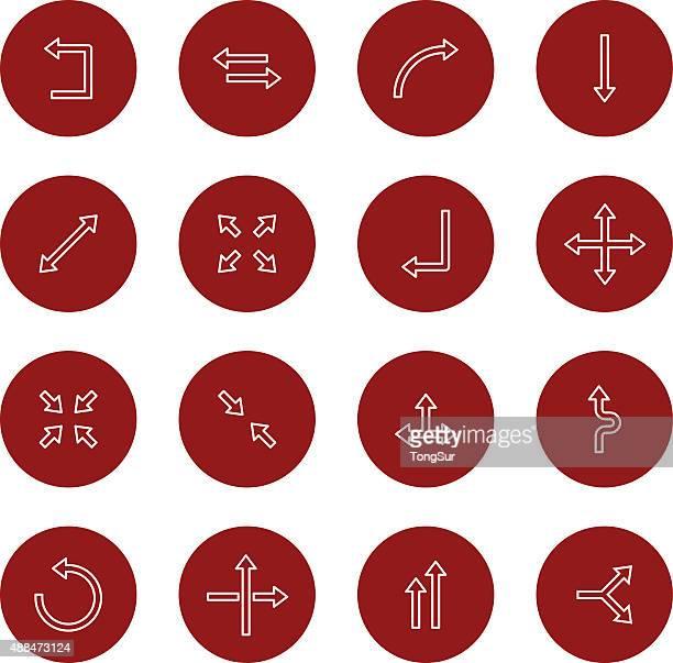 Pfeil-Symbole-set 1-Light-Circle