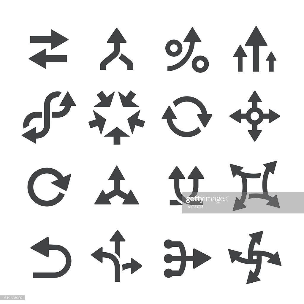 Arrow Icons Set - Acme Series : Stock Illustration