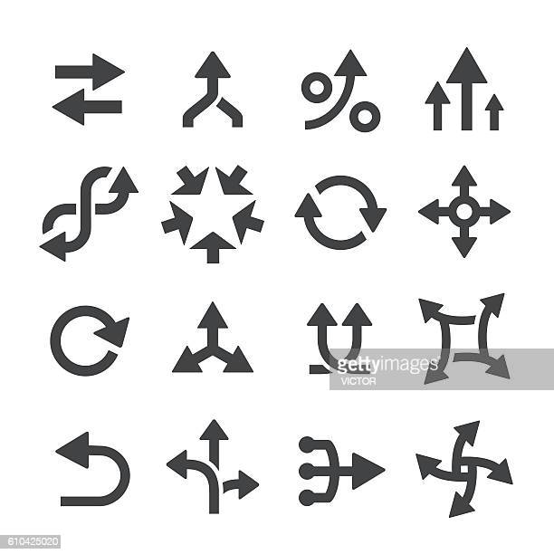 arrow icons set - acme series - eternity stock illustrations