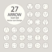 Arrow icons set.Vector illustration.