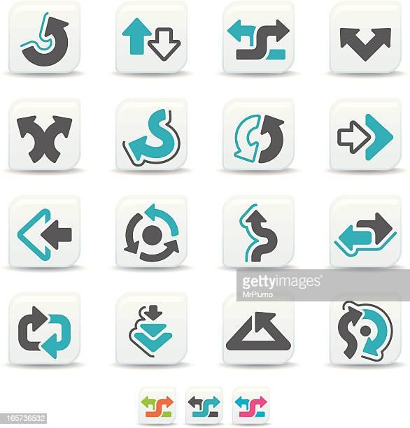 stockillustraties, clipart, cartoons en iconen met arrow icons   simicoso collection - terugtrekken