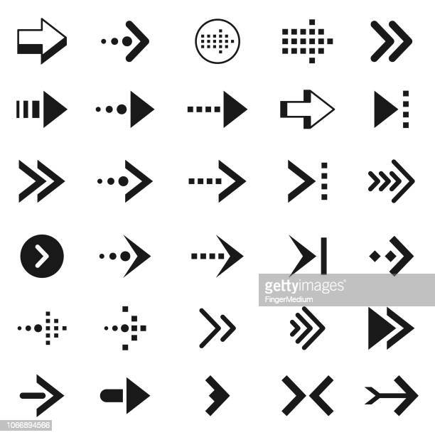 arrow icons - former stock illustrations, clip art, cartoons, & icons
