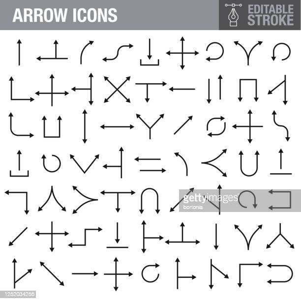 arrow icons - large group of objects stock illustrations