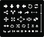Arrow Icons - White