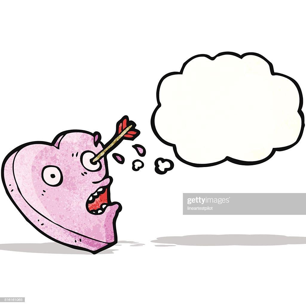 arrow in heart cartoon