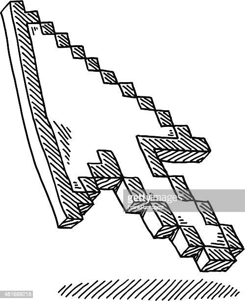 Arrow Mouse Pointer Drawing