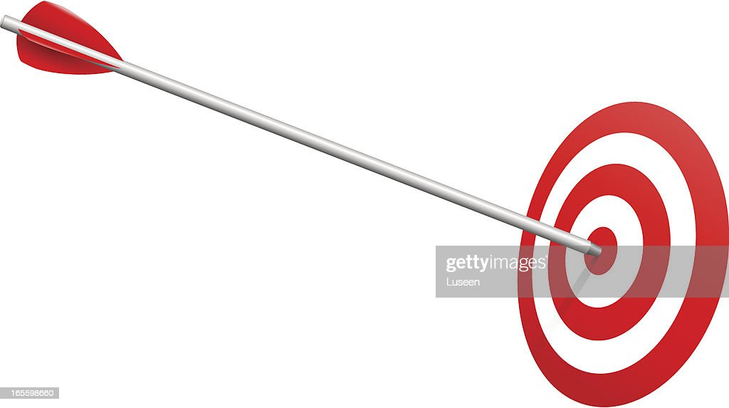 Arrow on Target Realistic Vector