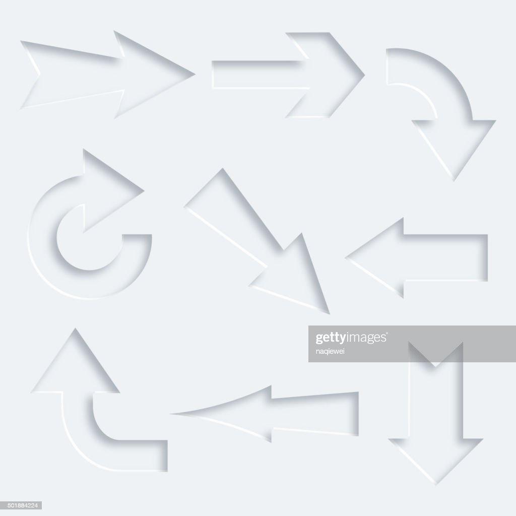 3D arrow pattern