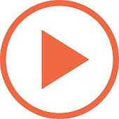 Arrow Play Button Linear Circle Icon