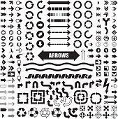 Arrow set in vector format