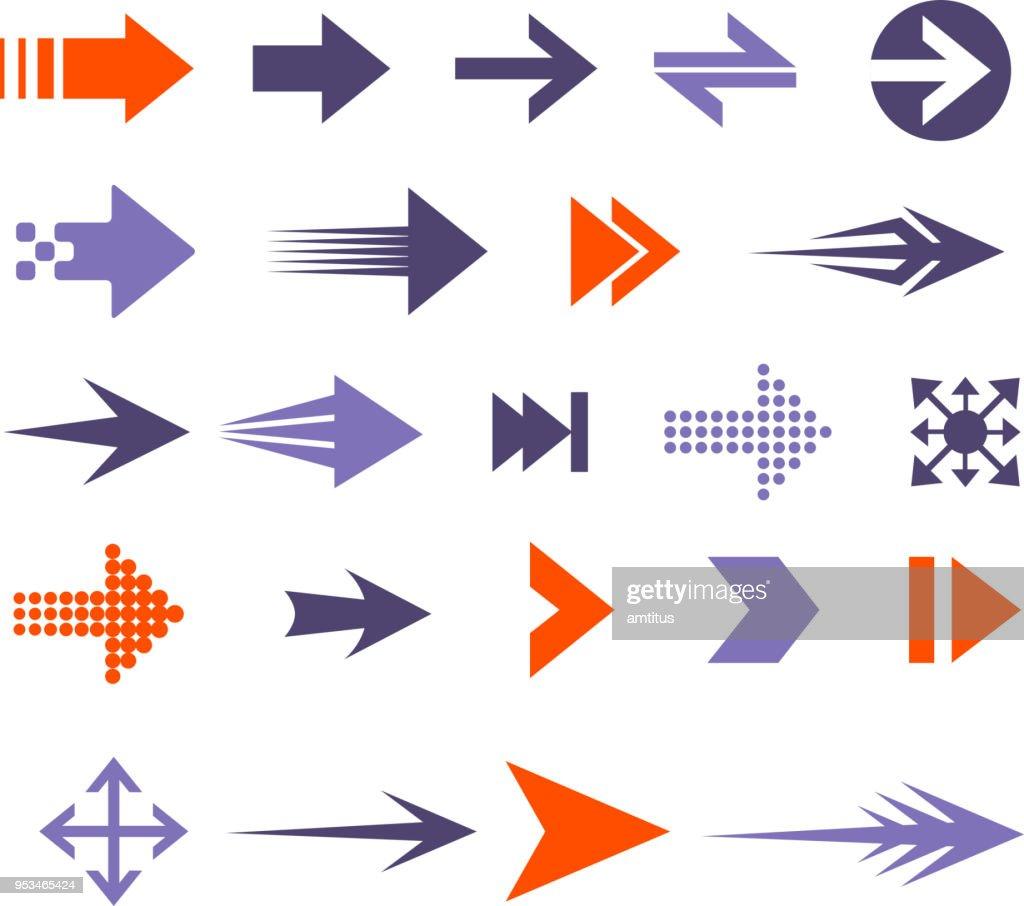 arrow set : stock vector