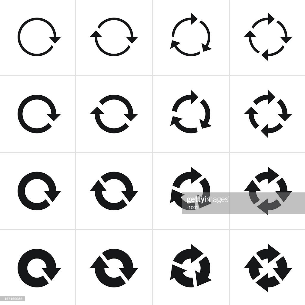 Arrow sign black icon refresh reload rotation loop pictogram