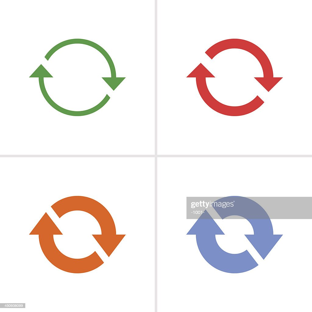 Arrow sign color icon reload rotation reset loop refresh pictogram