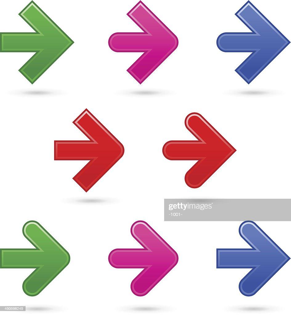 Arrow sign direction icon web navigation button