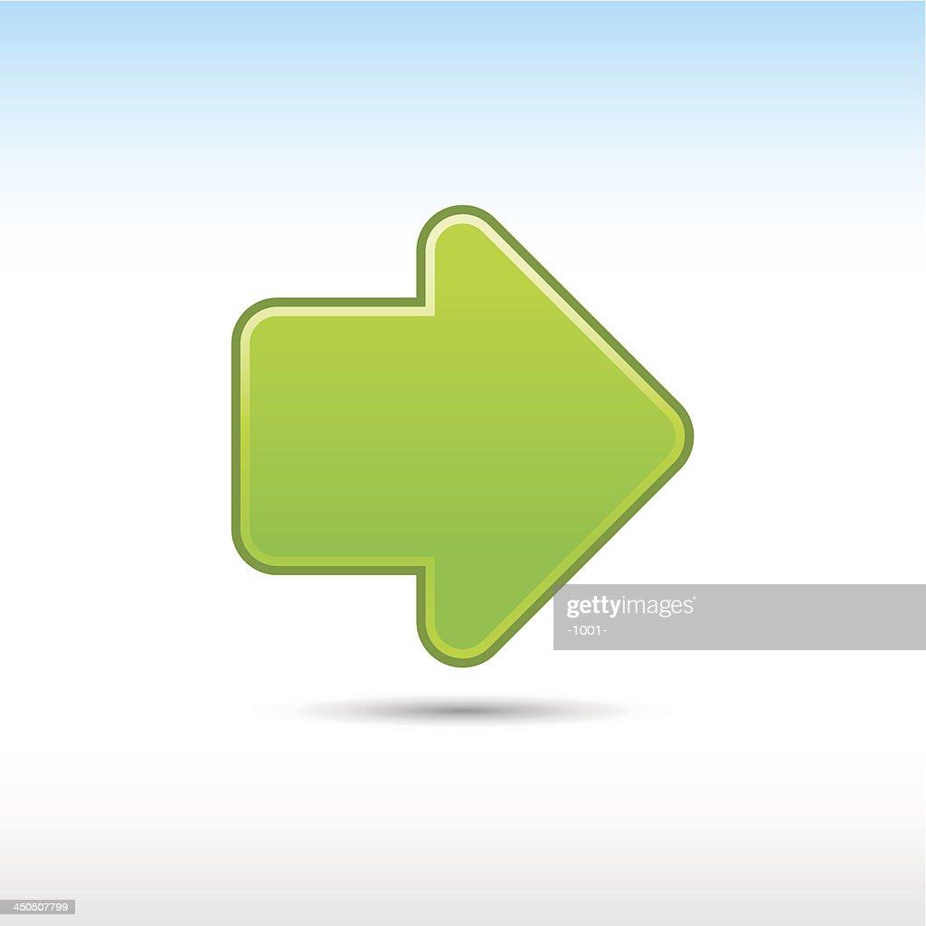Arrow sign green icon web internet button
