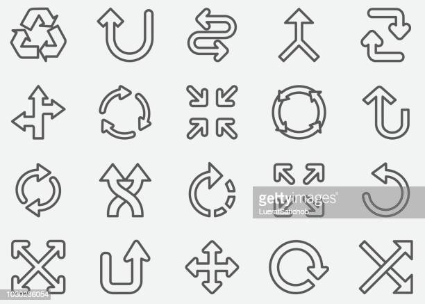 arrow sign line icons - change stock illustrations