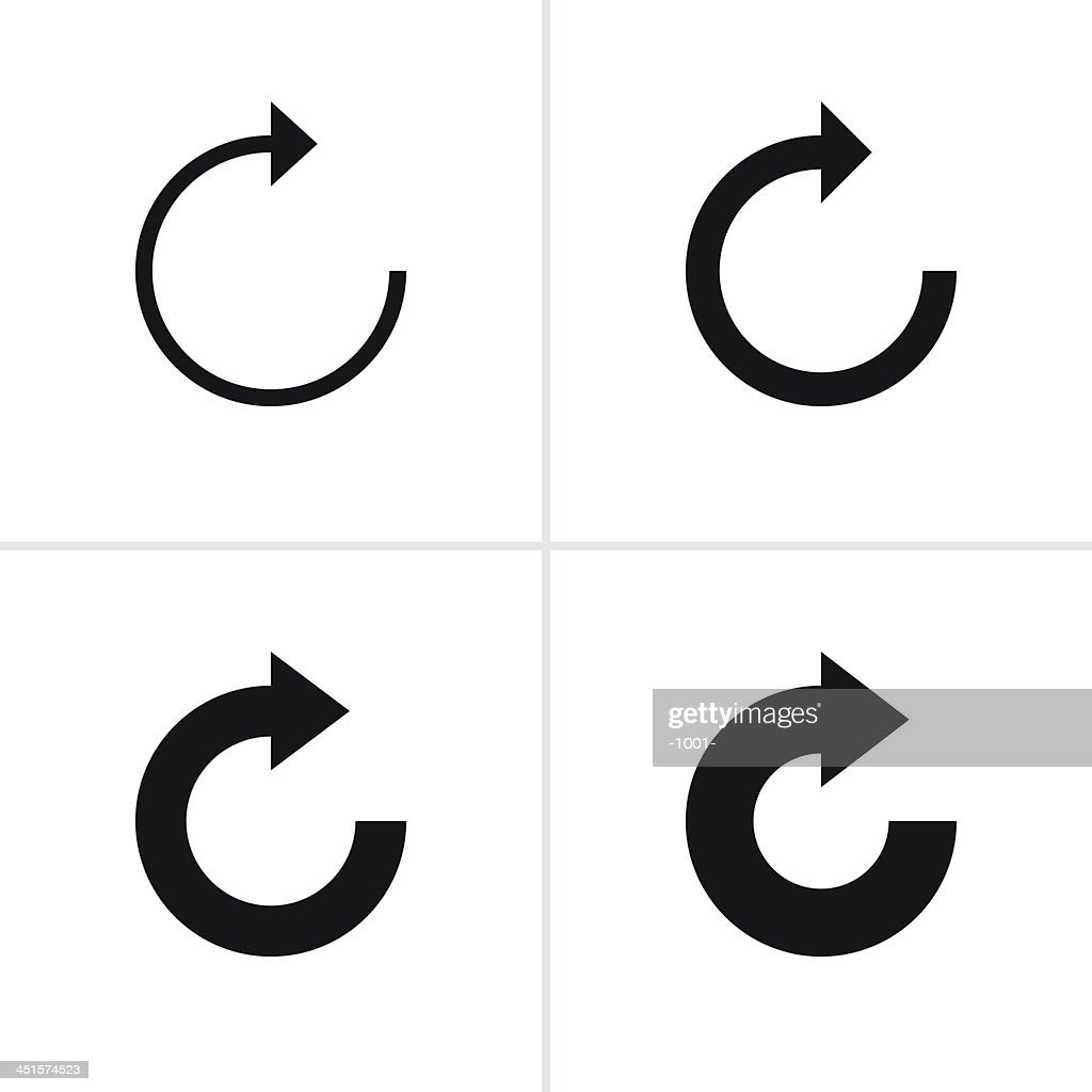 Arrow sign refresh reload loop rotation pictogram black icon