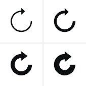 Arrow sign refresh reload loop rotation pictogram black icon