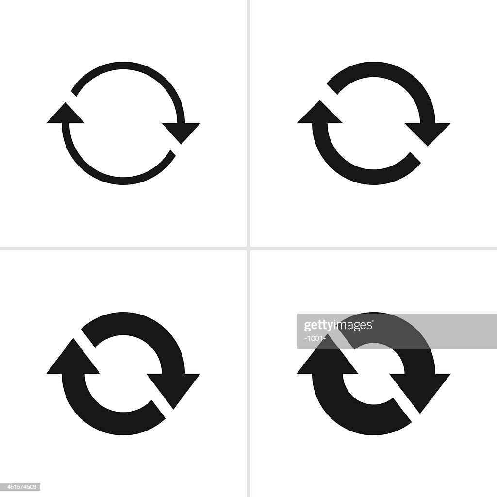 Arrow sign reload rotation loop refresh pictogram black icon