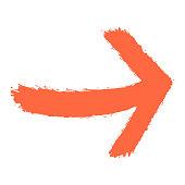 Arrow Sign Watercolour Style
