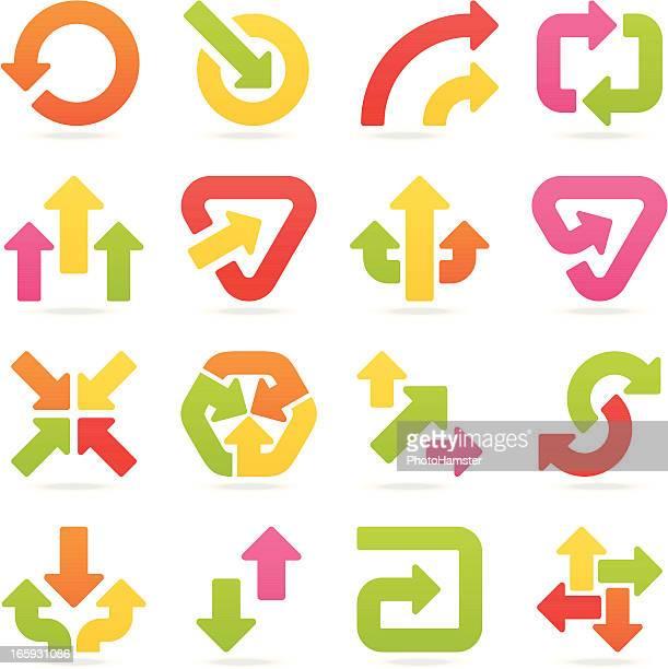 arrow signs color set III