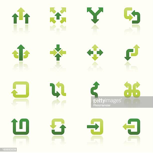arrow signs icon set I fresh reflection