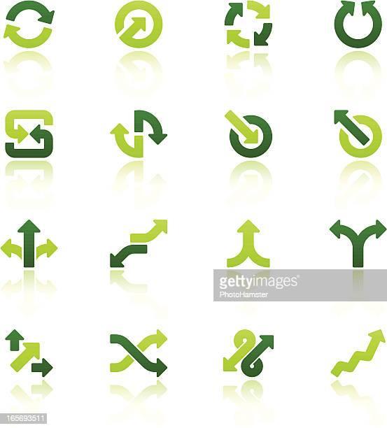 arrow signs icon set V fresh reflection