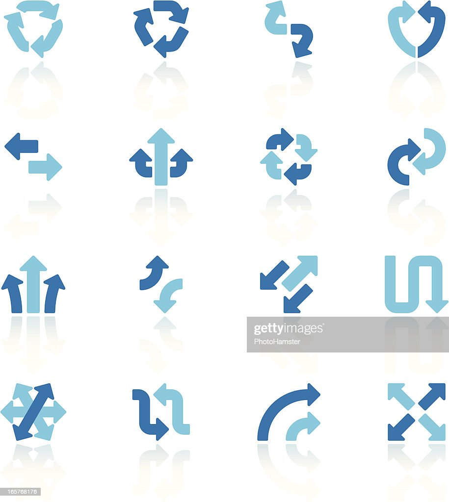 arrow signs set VI blue