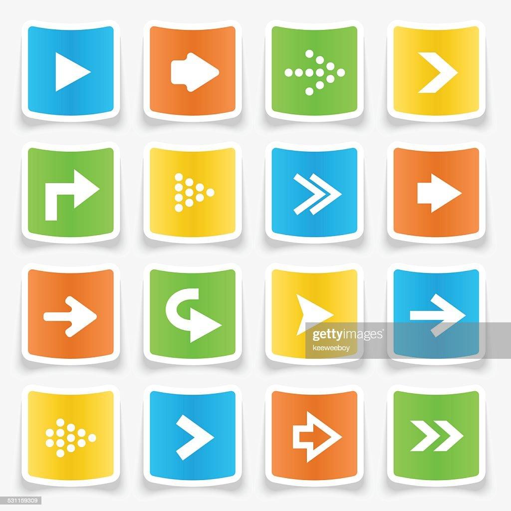 Arrow Sticker Icons