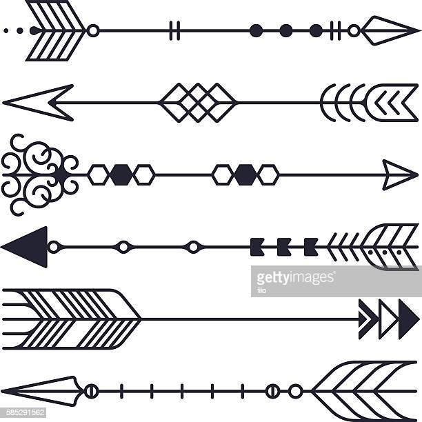 bildbanksillustrationer, clip art samt tecknat material och ikoner med arrow symbols - tatuering