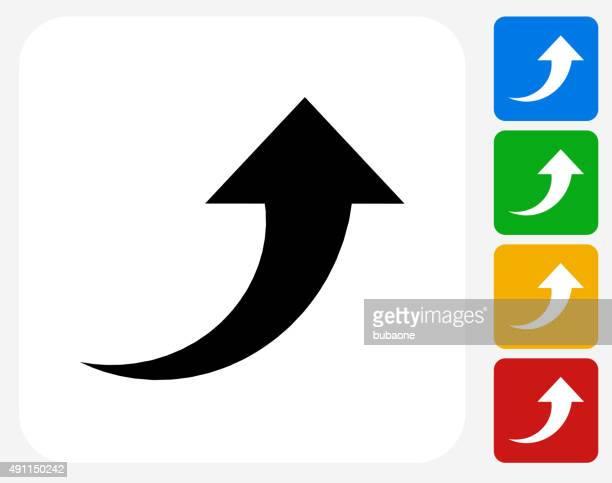 矢印アイコンフラットはグラフィックデザイン